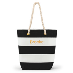 Bliss Striped Bridesmaid Tote Bag